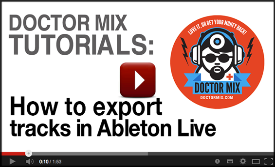 How to Use Ableton To Export Multiple Tracks - Video Tutorial