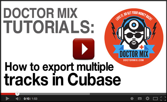 Video Cubase Tutorial - How To Export In Cubase