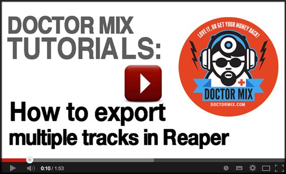 Reaper Video Tutorial - How To Export In Reaper