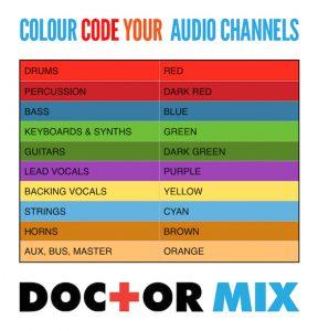 Colour Coding A Mix Session