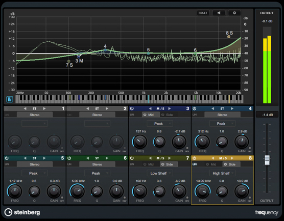 Cubase Pro 9 Frequency EQ