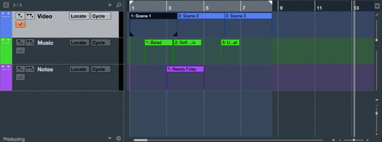 Cubase Pro 9 Multiple Marker Tracks