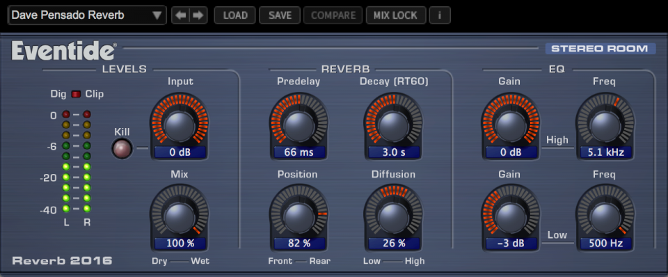 Eventide Reverb 2016 Plugin
