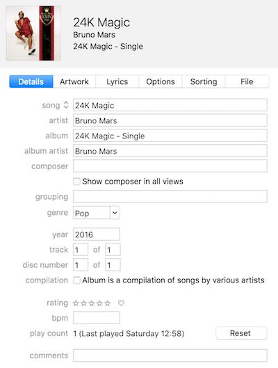 Bruno Mars 24K Magic iTunes